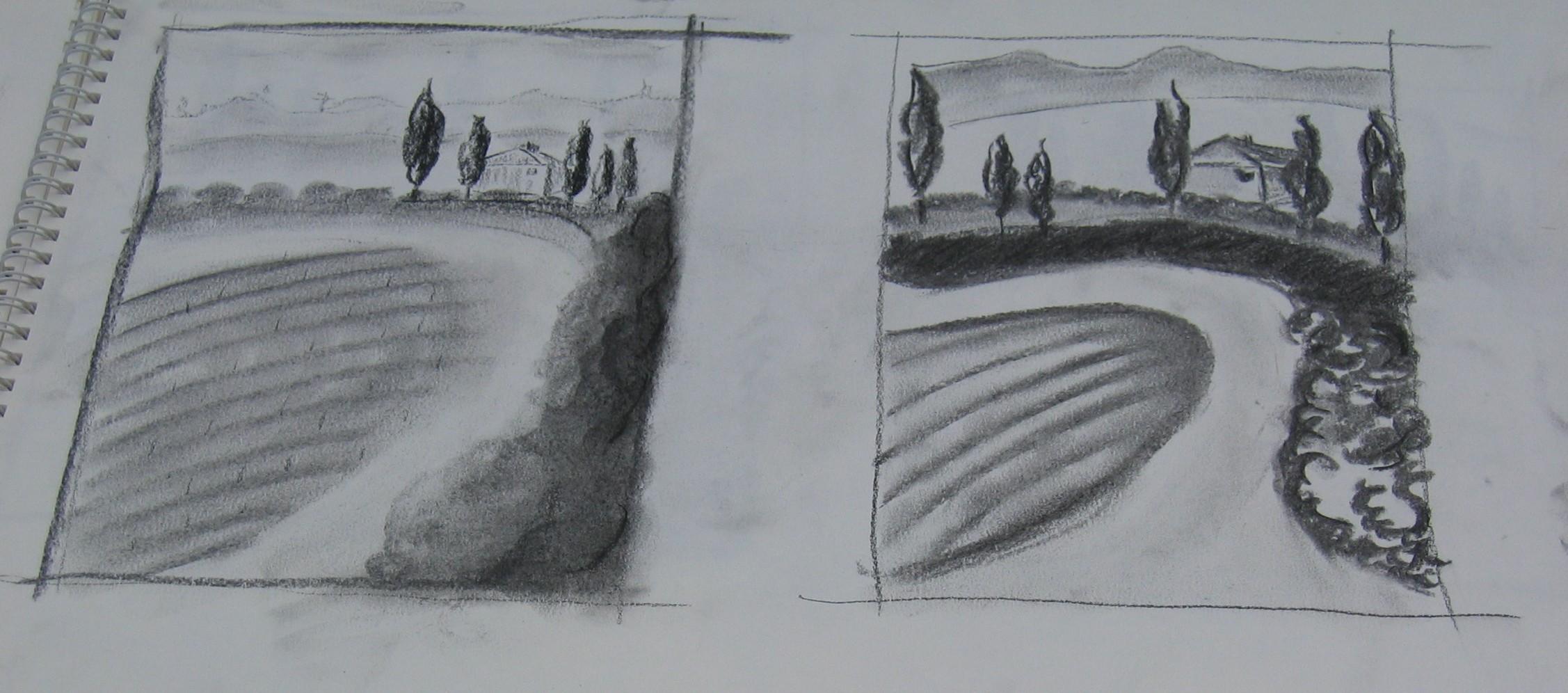 7 Skizzen Malreise